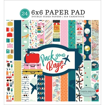 Carta Bella PACK YOUR PAGS 6 x 6 Paper Pad cbpyb86023
