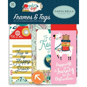 Carta Bella PACK YOUR BAGS Ephemera cbpyb86025