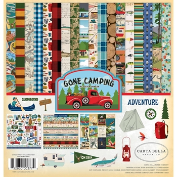 Carta Bella GONE CAMPING 12 x 12 Collection Kit cbgc85016