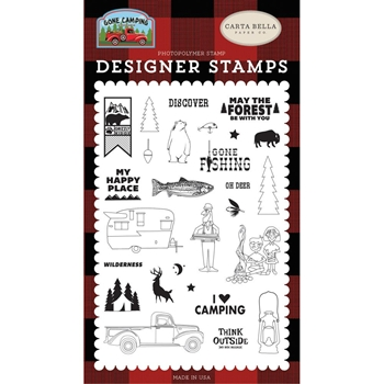 Carta Bella MY HAPPY PLACE Clear Stamps cbgc85040