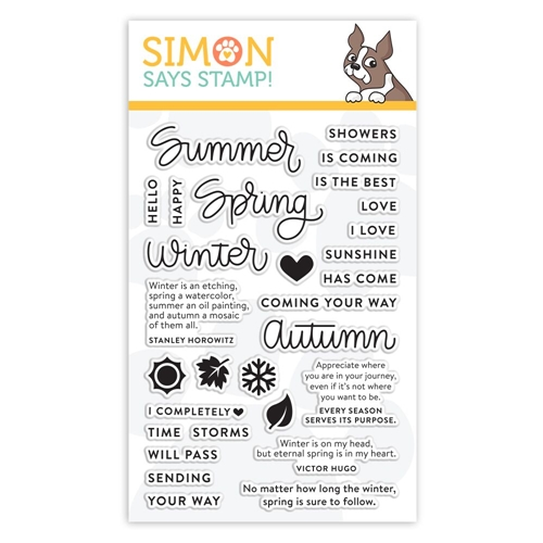 Simon Says Clear Stamps FOUR SEASONS SAYINGS sss101850 Sending Sunshine Preview Image