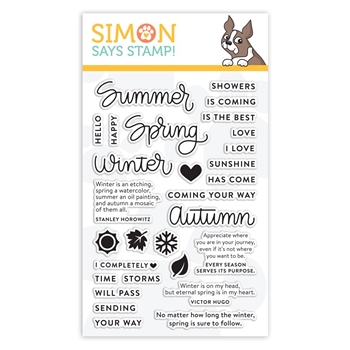 Simon Says Clear Stamps FOUR SEASONS SAYINGS sss101850 Sending Sunshine