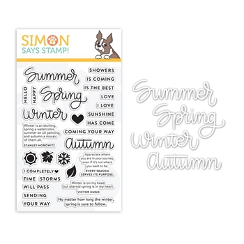 RESERVE Simon Says Stamps And Dies FOUR SEASONS set319fs Sending Sunshine