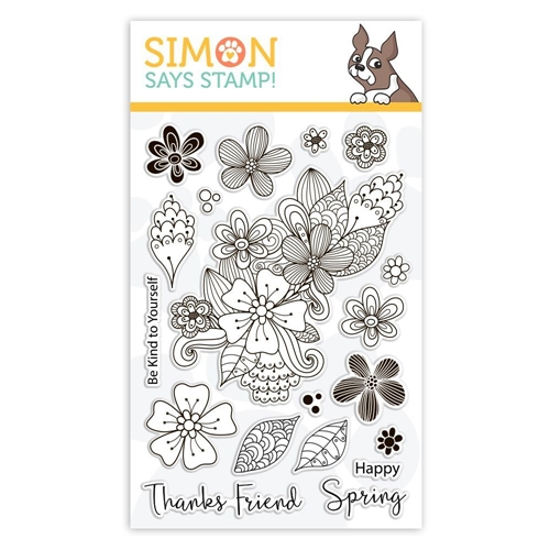 Simon Says Clear Stamps SPRING FLOWER BURST sss101846 Sending Sunshine Preview Image