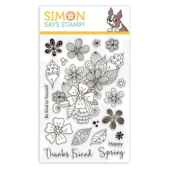 Simon Says Clear Stamps SPRING FLOWER BURST sss101846 Sending Sunshine