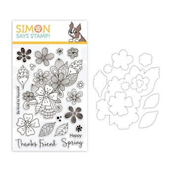 Simon Says Stamps And Dies SPRING FLOWER BURST set322sfb Sending Sunshine