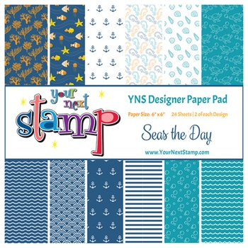 Your Next Stamp SEAS THE DAY 6X6 Paper Pack ynspp023