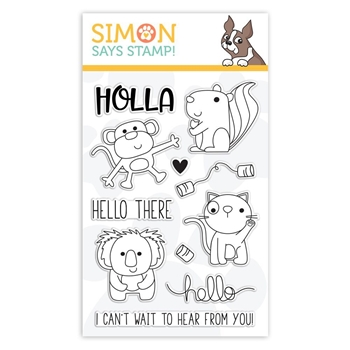 Simon Says Clear Stamps HELLO THERE sss101845 Sending Sunshine