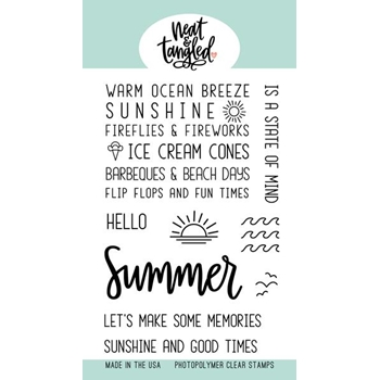 Neat and Tangled HELLO SUMMER Clear Stamps NAT382