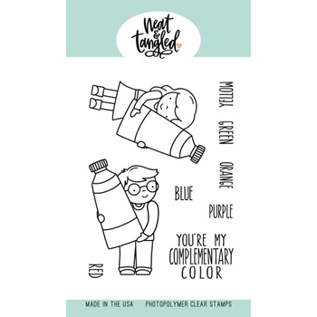 Neat and Tangled COMPLEMENTARY COLORS Clear Stamps NAT380