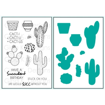 Gina K Designs STUCK ON YOU Clear Stamp and Die Set 3665