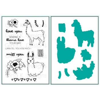 Gina K Designs SENDING YOU LLAMA LOVE Clear Stamps and Dies 3658