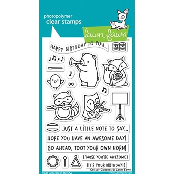 Lawn Fawn CRITTER CONCERT Clear Stamps LF1682