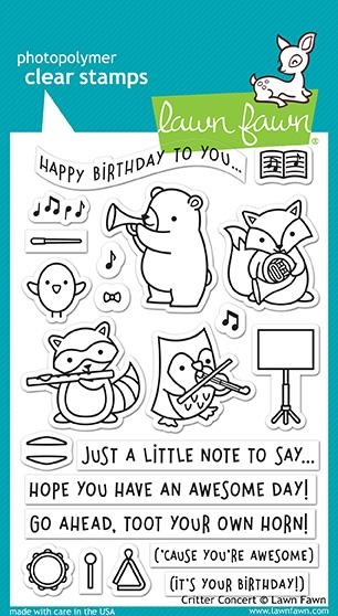 Lawn Fawn CRITTER CONCERT Clear Stamps LF1682 zoom image