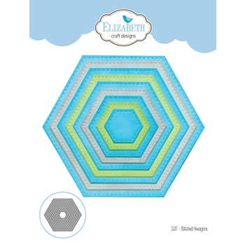 Elizabeth Craft Designs STITCHED HEXAGONS Craft Die 1537