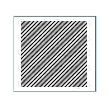 Gina K Designs DIAGONAL STRIPE Cling Background Stamp 3627