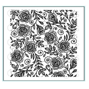 Gina K Designs ROSE LACE Background Cling Stamp 3603