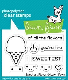 Lawn Fawn SWEETEST FLAVOR Clear Stamps LF1698