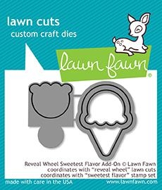 Lawn Fawn REVEAL WHEEL SWEETEST FLAVOR ADD ON Die Cuts LF1700