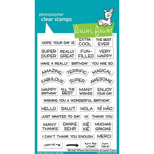Lawn Fawn REVEAL WHEEL SENTIMENTS Clear Stamps LF1701 Preview Image