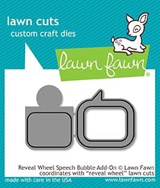 Lawn Fawn REVEAL WHEEL SPEECH BUBBLE ADD ON Lawn Cuts LF1702