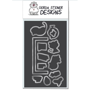 Gerda Steiner Designs ON THE BOOKSHELF Die Set gsd637die