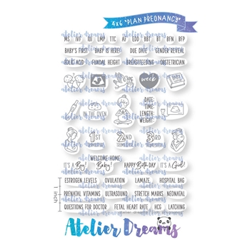 Atelier Dreams PLAN PREGNANCY Clear Stamp Set ad072
