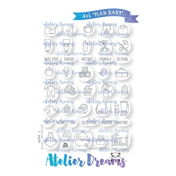 Atelier Dreams PLAN BABY Clear Stamp Set ad073