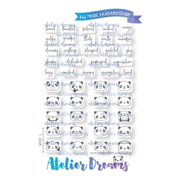 Atelier Dreams MORE PANDAMOODIUM Clear Stamp Set ad074