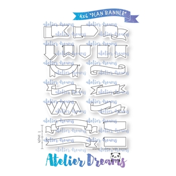 Atelier Dreams PLAN BANNER Clear Stamp Set ad075