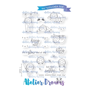 Atelier Dreams SLOTH KINDA DAY Clear Stamp Set ad076