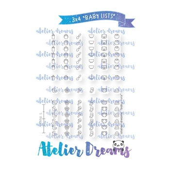 Atelier Dreams BABY LISTS Clear Stamp Set adg029