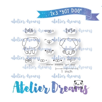 Atelier Dreams YEAR OF THE DOG Clear Stamp Set adm050