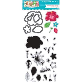 PhotoPlay ALOHA Clear Stamps & Dies al8946
