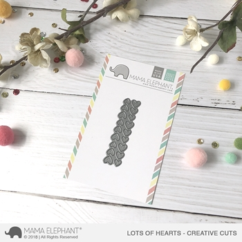 Mama Elephant LOTS OF HEARTS Creative Cuts Steel Dies