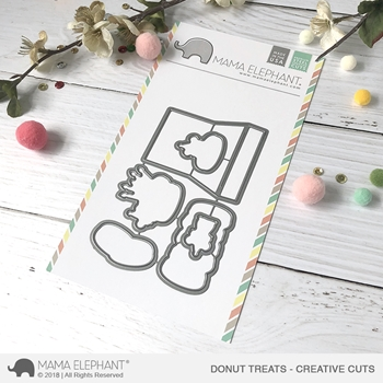 Mama Elephant DONUT TREATS Creative Cuts Steel Dies