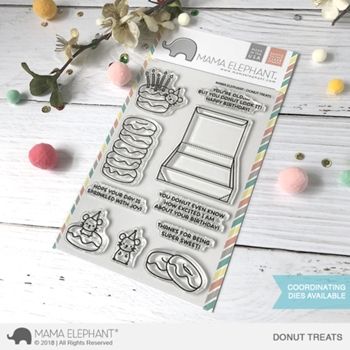 Mama Elephant Clear Stamps DONUT TREATS