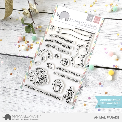 Mama Elephant Clear Stamps ANIMAL PARADE  zoom image