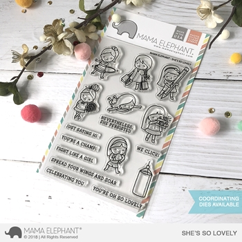 Mama Elephant Clear Stamps SHE'S SO LOVELY