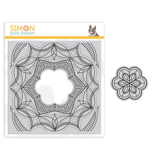 Simon Says Cling Stamp CENTER CUT FANCY FLOWER sss101849 Sending Sunshine Preview Image