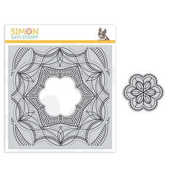 Simon Says Cling Stamp CENTER CUT FANCY FLOWER sss101849 Sending Sunshine