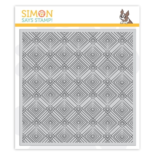 Simon Says Cling Rubber Stamp DECO DIAMONDS Background sss101861 Sending Sunshine Preview Image