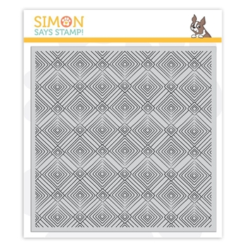 RESERVE Simon Says Cling Rubber Stamp DECO DIAMONDS Background sss101861 Sending Sunshine
