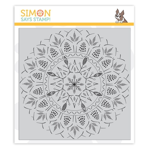 Simon Says Cling Rubber Stamp BOHEMIAN LACE Background sss101858 Sending Sunshine