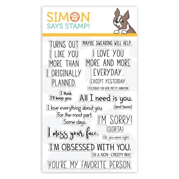 RESERVE Simon Says Clear Stamps PLAYFUL MESSAGES sss101847 Sending Sunshine