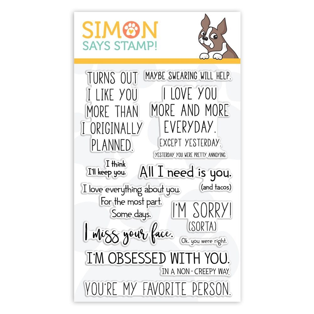 Simon Says Clear Stamps PLAYFUL MESSAGES sss101847 Sending Sunshine zoom image