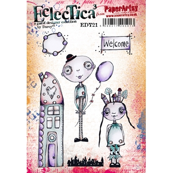 Paper Artsy ECLECTICA3 DARCY 21 Rubber Cling Stamp edy21