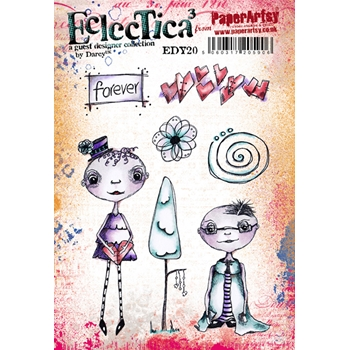 Paper Artsy ECLECTICA3 DARCY 20 Rubber Cling Stamp edy20