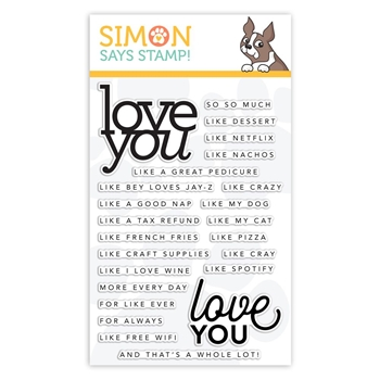 CZ Design Clear Stamps LOVE YOU LIKE cz21 Sending Sunshine