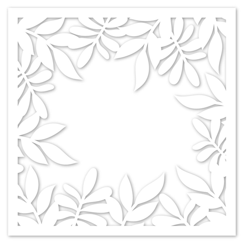 Simon Says Stencils LEAFY FRAME ssst121425 Sending Sunshine Preview Image